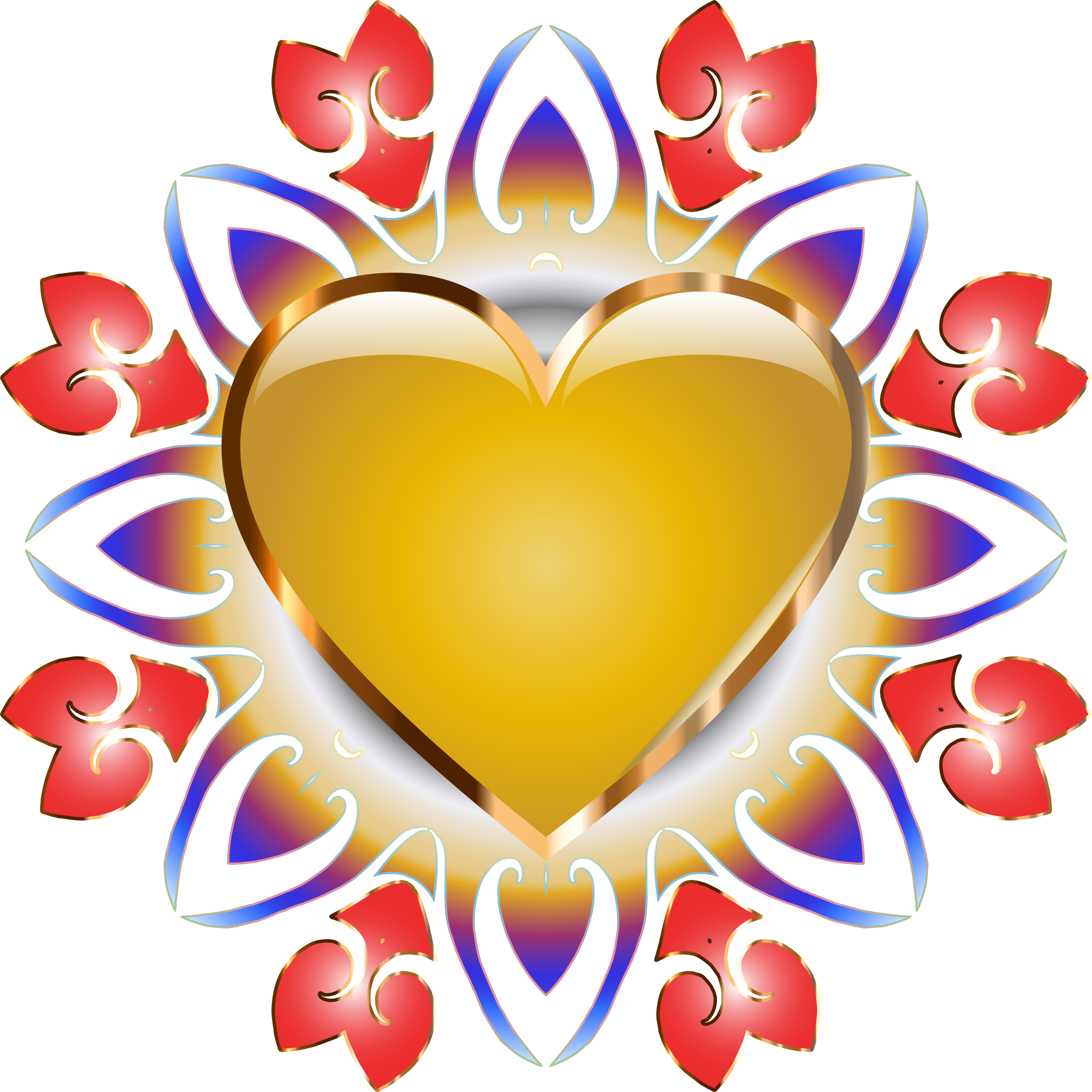 Abstract heart png. Design no background icons