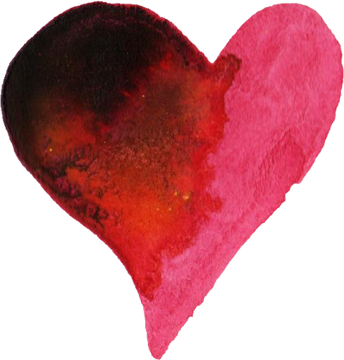 water color heart png