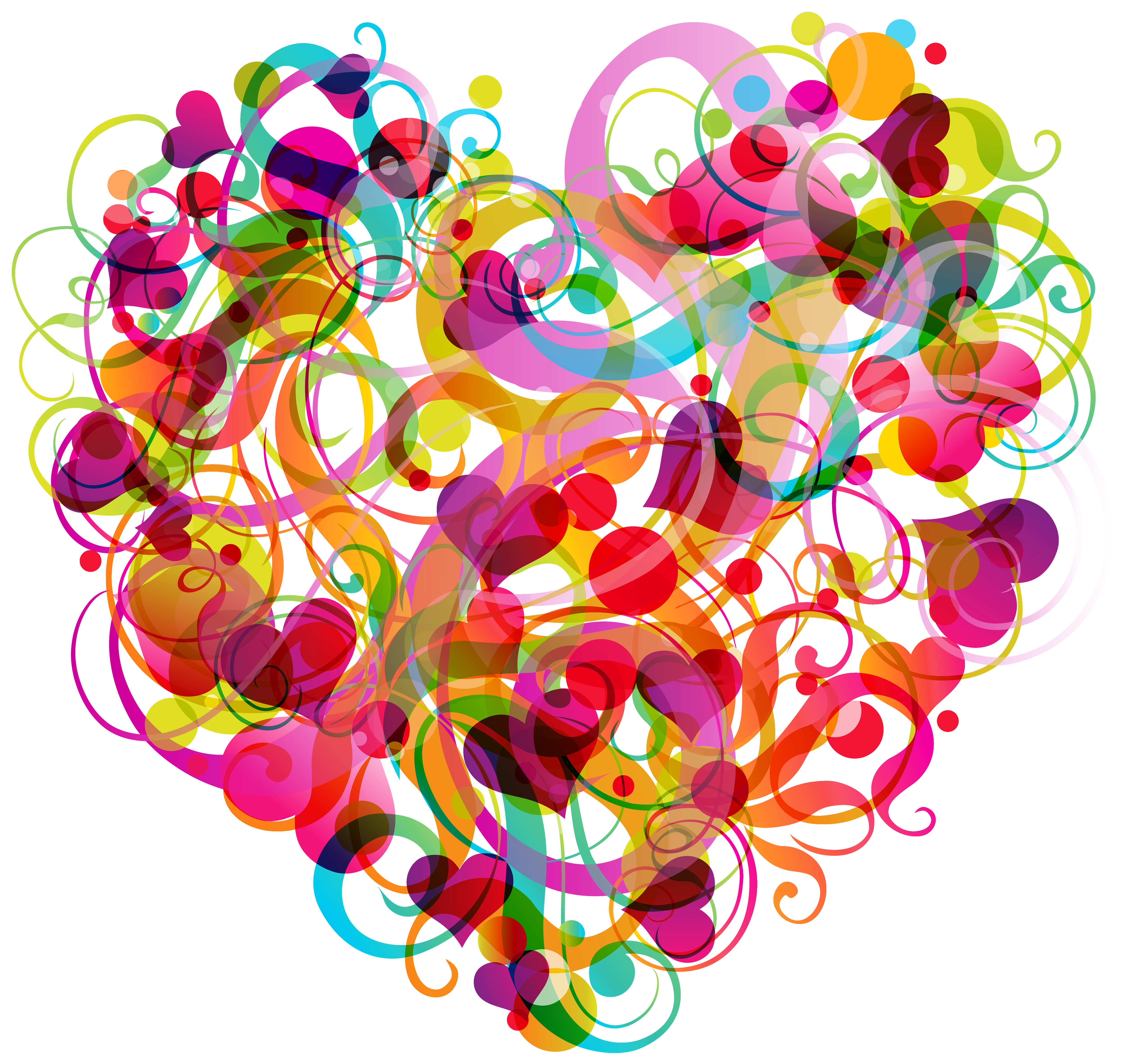 Abstract heart png. Colorful clipart best web