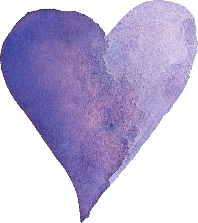 Lavender heart png. Watercolor transparent vol