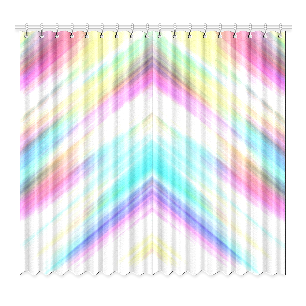 Abstract stripes png. Rainbow stripe window curtain