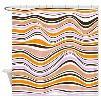 Abstract stripes png. Peach and lavender shower