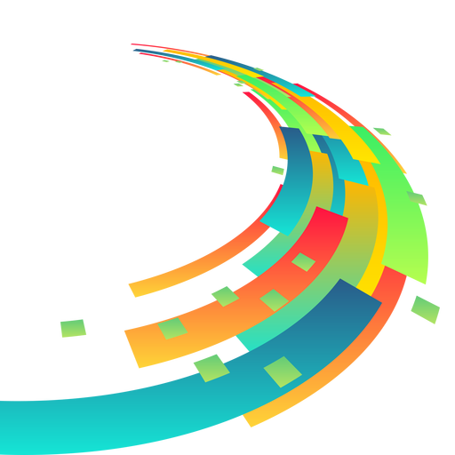 Abstract swirls png. Colorful rectangle background transparent