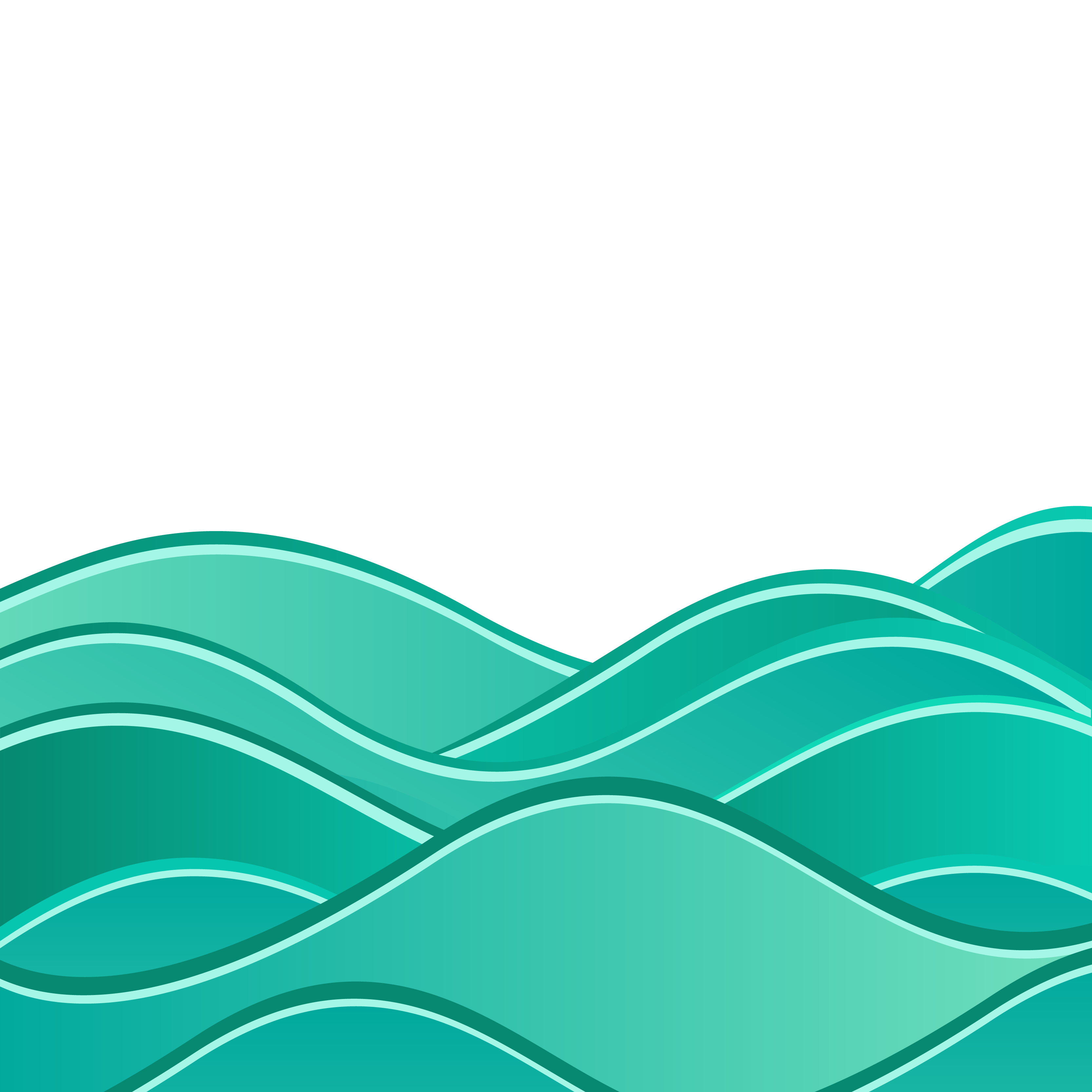 Green wave vector png. Wind euclidean sea background