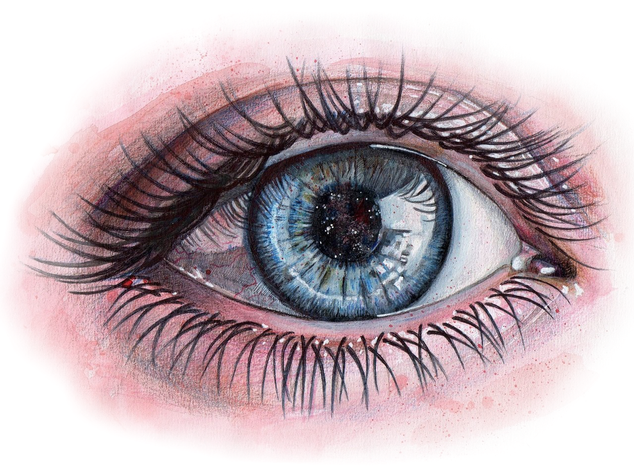 Abuse drawing eye. Sticker by veronique klotz