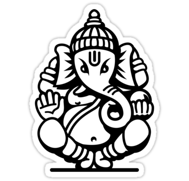 Ganesh vector ji. Free ganesha outline download