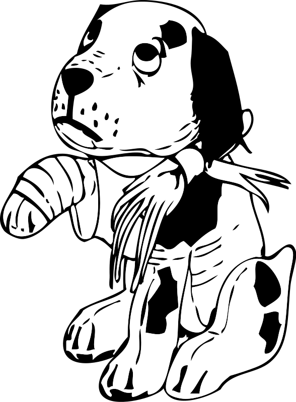 Poor drawing sad. Free dog clipart download