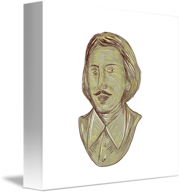 Christopher marlowe by aloysius. Academic drawing bust clip transparent stock