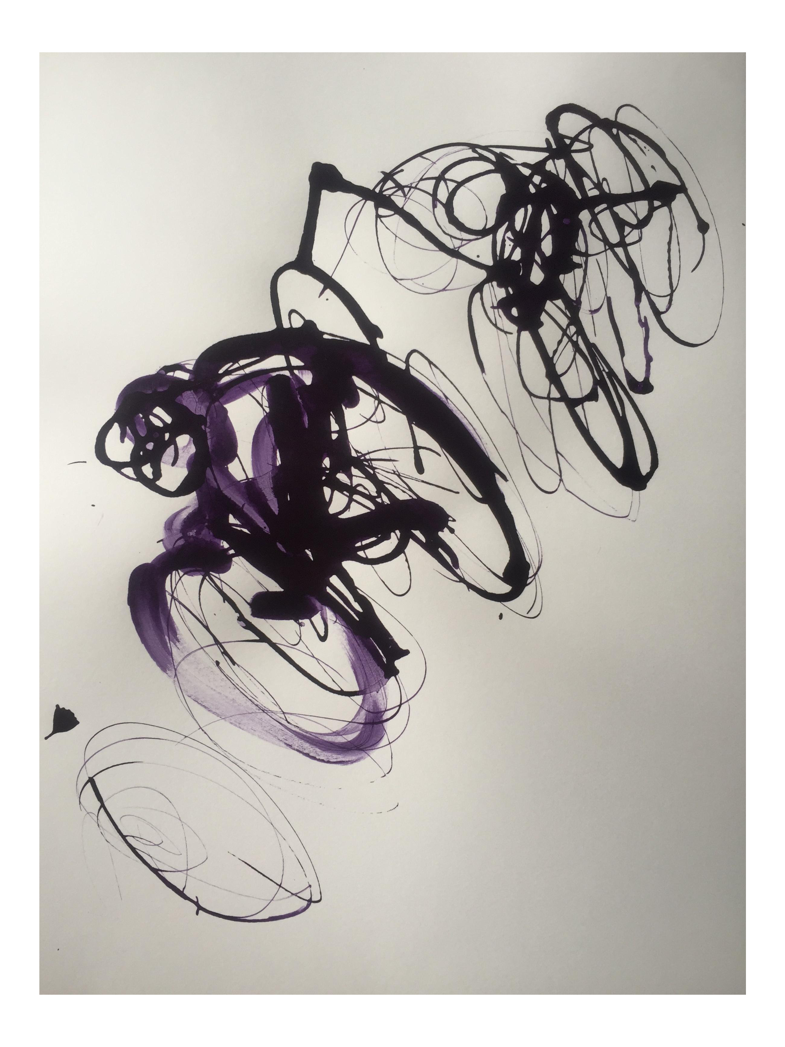 Academic drawing ink. Tour de france abstract