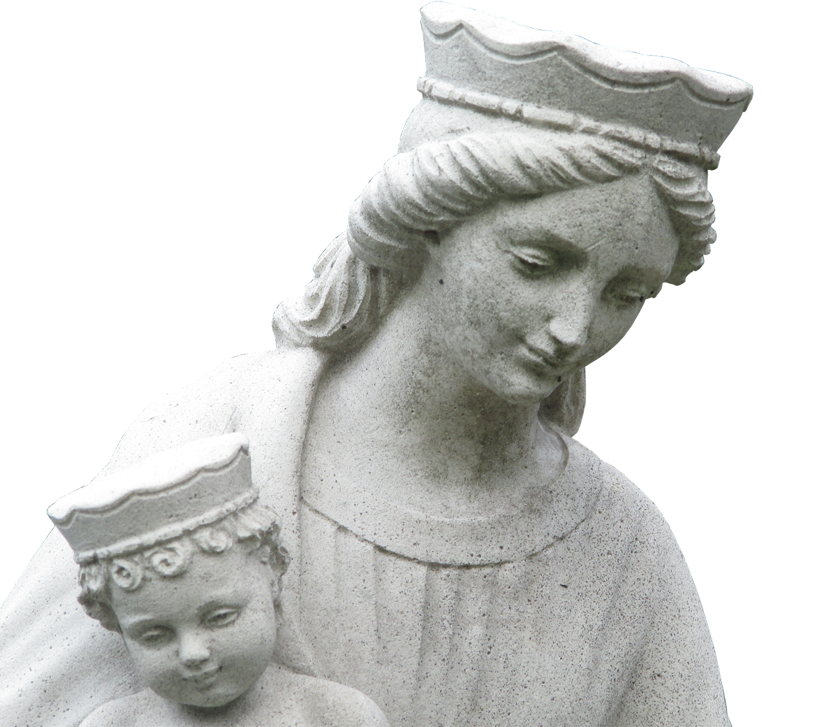 Academic drawing sculpture. Mary and joseph into