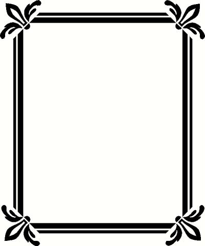 Accents clipart frame. Borders frames accent panda