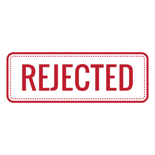Accept and reject buttons png. Rejected red rounded rectangle