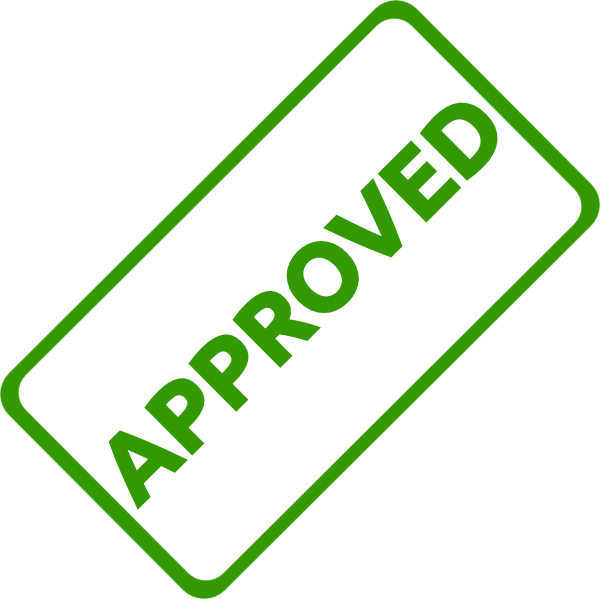 Accepted stamp png. Approved clip art at