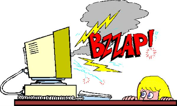 accident clipart computer