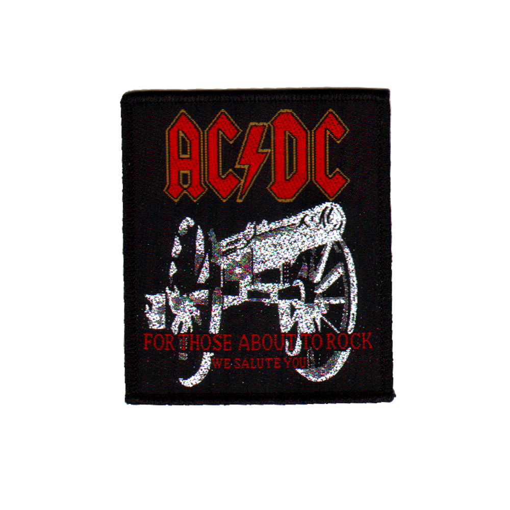 Acdc for those about to rock cannon png. Ac dc woven patch