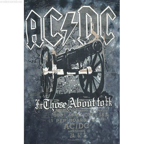 Acdc for those about to rock cannon png. T shirt manches courtes