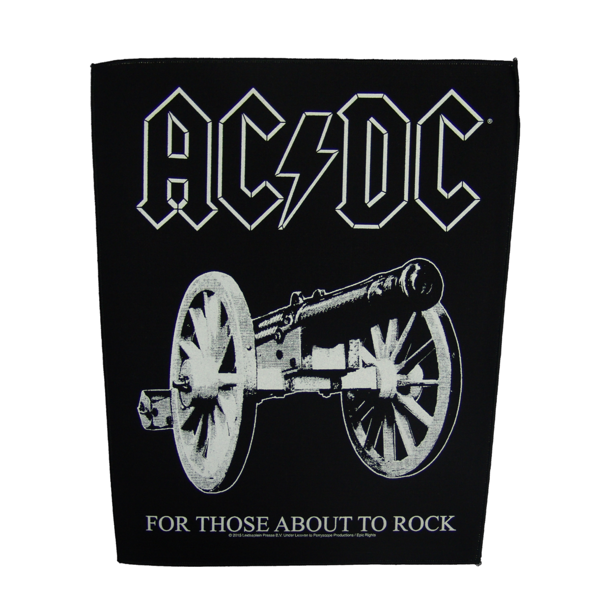 Acdc for those about to rock cannon png. Ac dc backpatch b