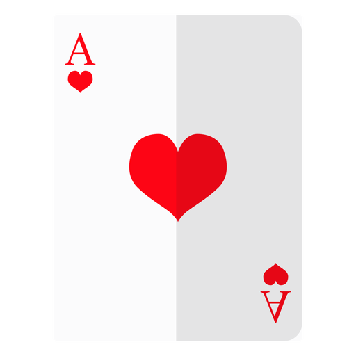 Ace of hearts png. Card icon transparent svg