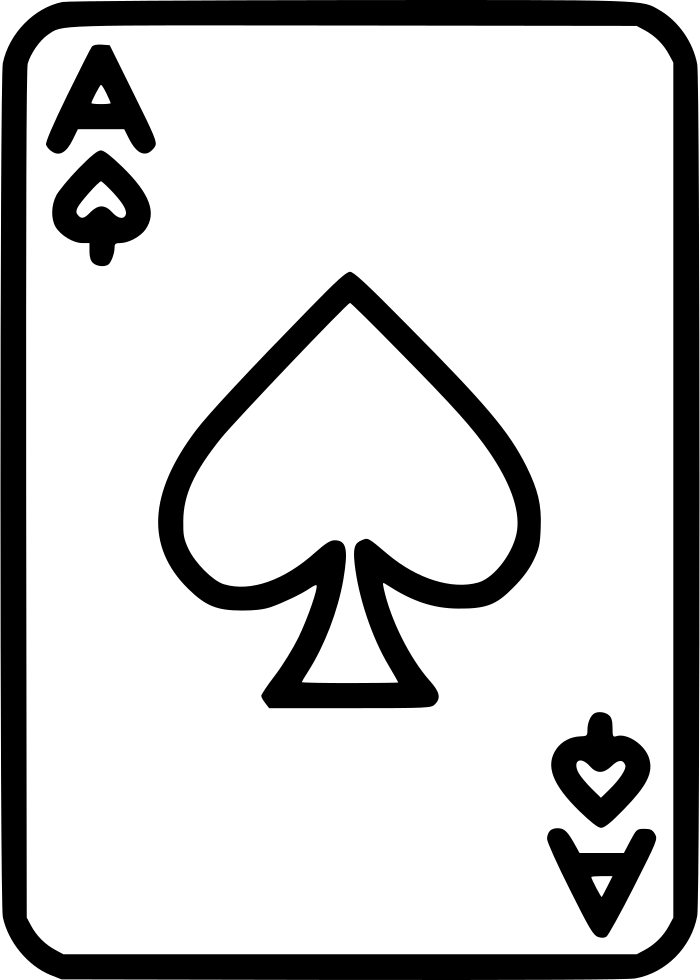 Ace of spade png. Svg icon free download