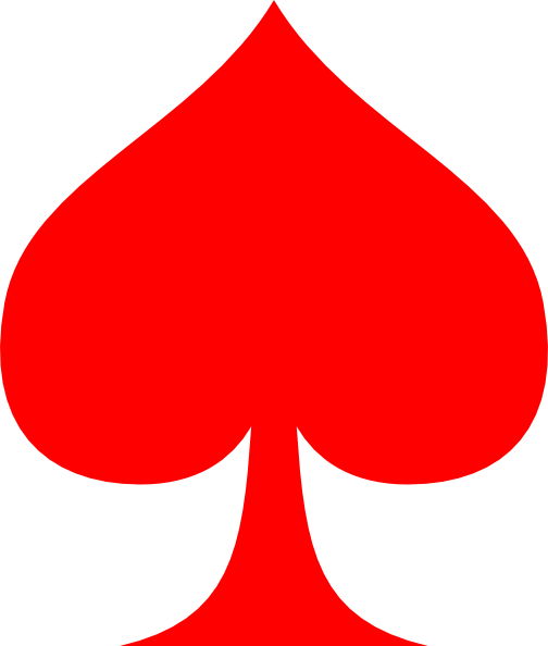 Ace of spade png. Red clip art at