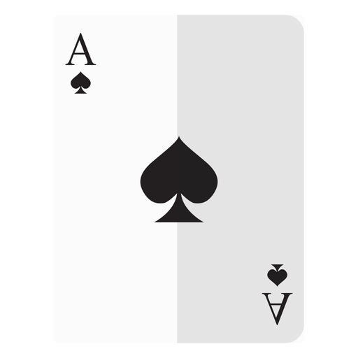 Ace of spades card png. Icon transparent svg vector