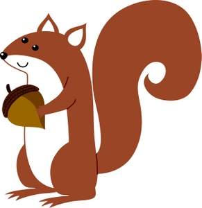 Acorn clipart animated. Squirrel with