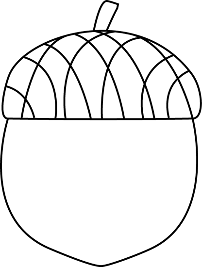 Acorn transparent black and white. Clipart panda free images