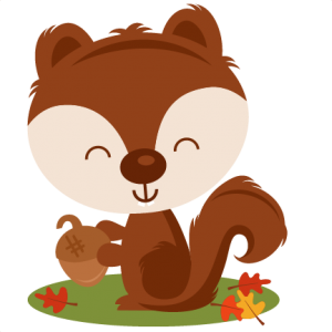 Acorn clipart fox squirrel. Freebie of the week