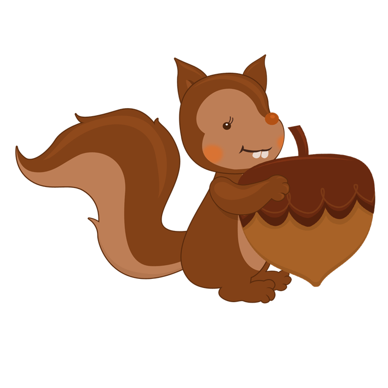 Acorn clipart fox squirrel. Aunt mo family reunion