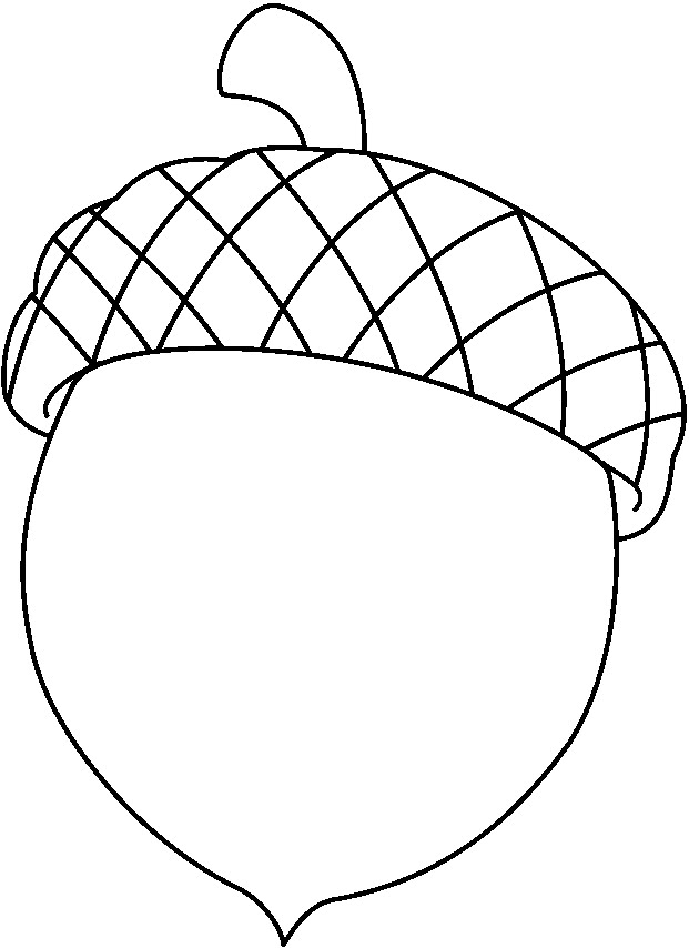 Acorn clipart printable. Coloring pages getcoloringpages com