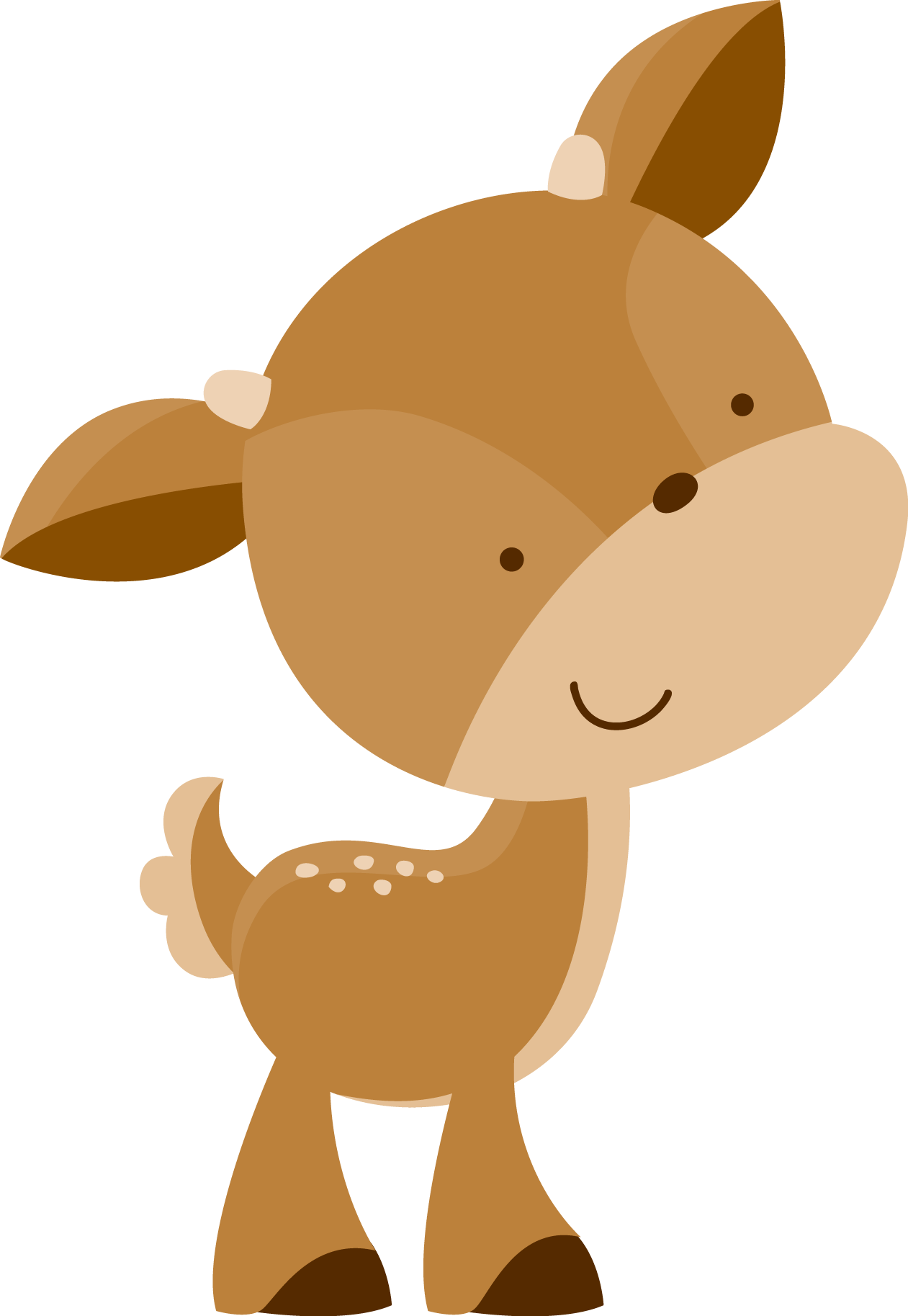 Woodland animals png. White tailed deer cuteness