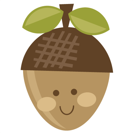 Acorn svg. Cute cut file for