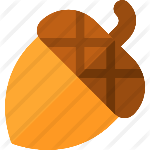 Acorn svg color. Free food icons