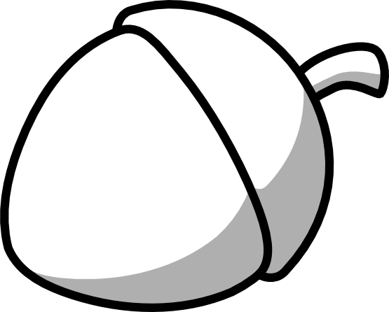 Acorn svg line drawing