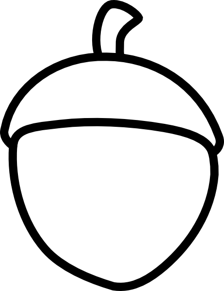 Nuts vector outline. Acorn clip art at