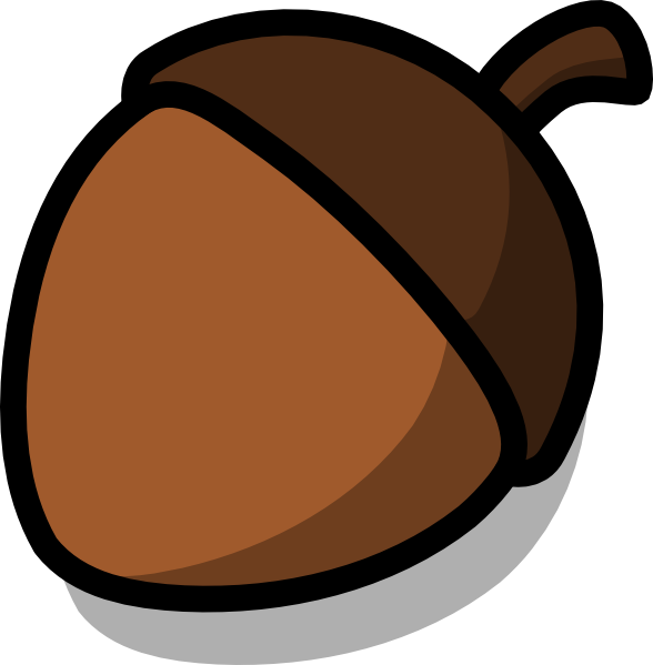 Acorn svg simple. Collection of cartoon