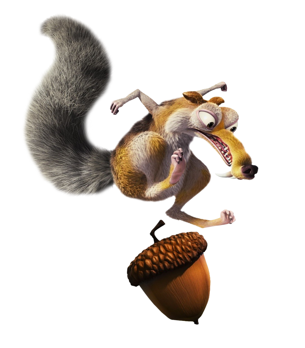 Acorn transparent ice age. Squirrel glass png image