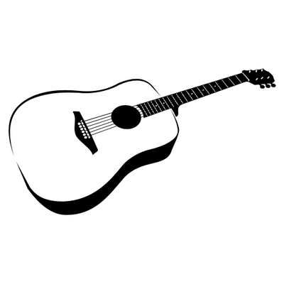Acoustic clipart. Free guitar and vector