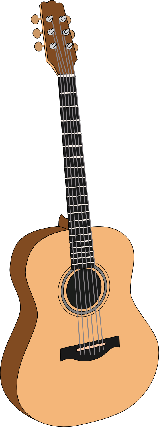 Sing drawing guitar. Free acoustic singer cliparts