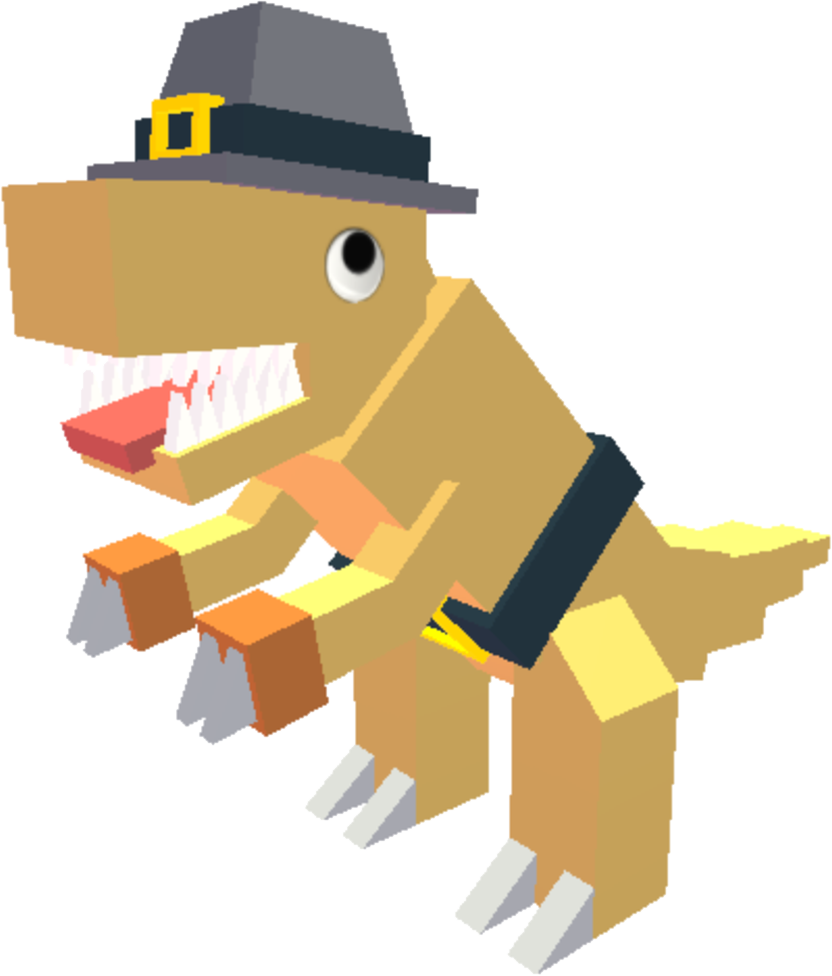 Acro clip file. Image thanksgiving png dino