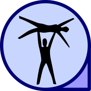 Acro clip large. Acrobats icon art at
