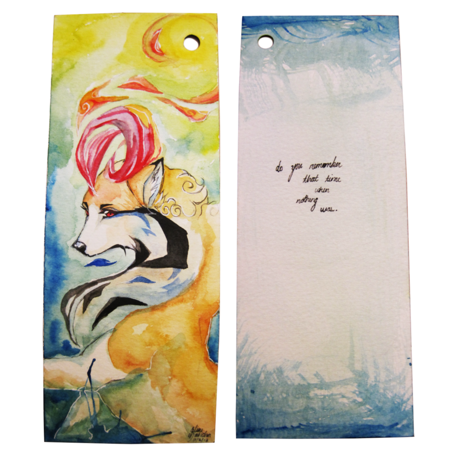 Acrylic drawing basic. Limited traditional bookmark commissions