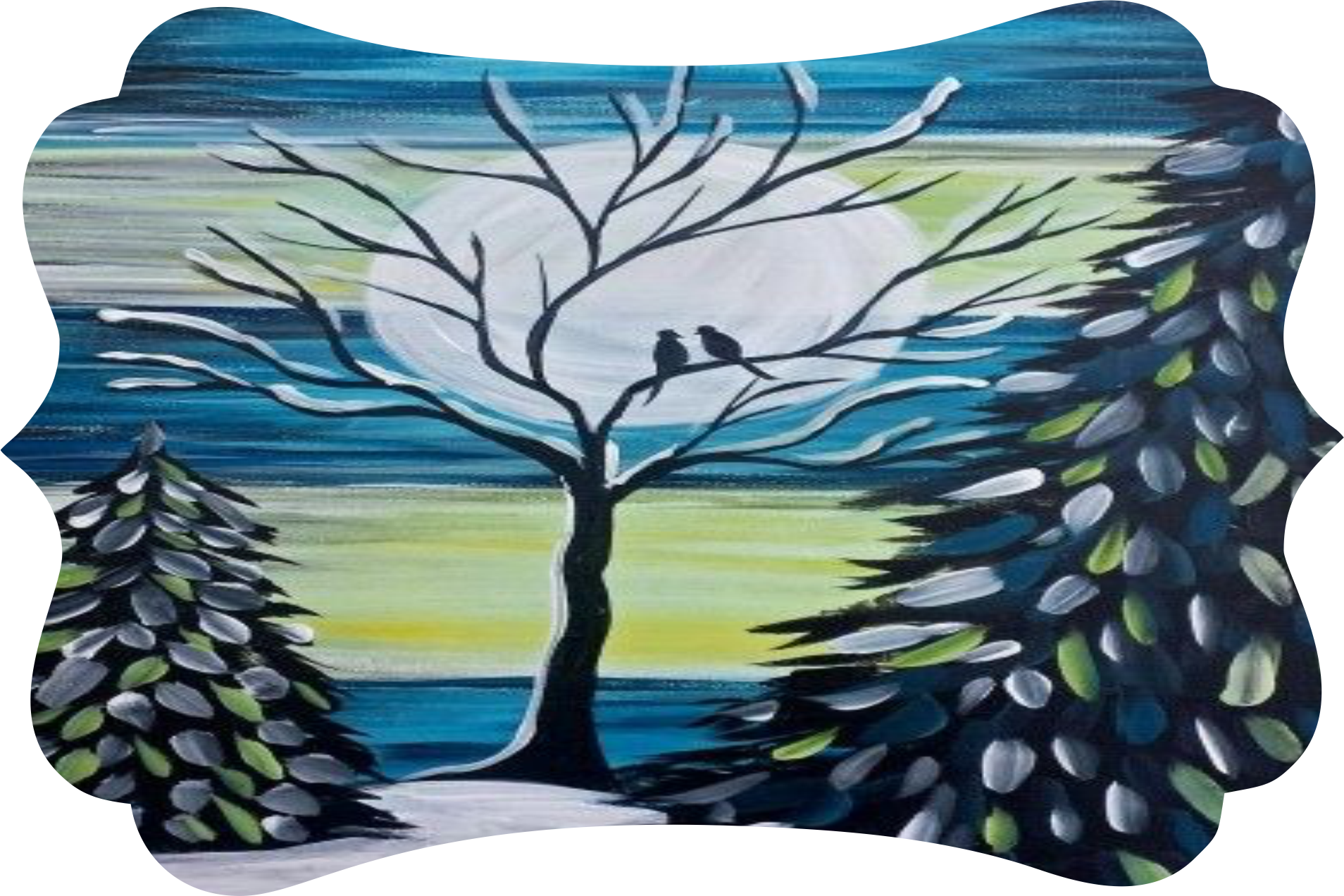 Colony drawing winter. Sku rs rectangle sign