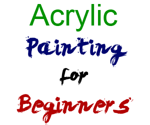 Acrylic drawing beginner. How to paint with