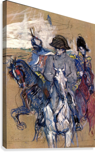 Acrylic drawing canvas. Napoleon by toulouse lautrec
