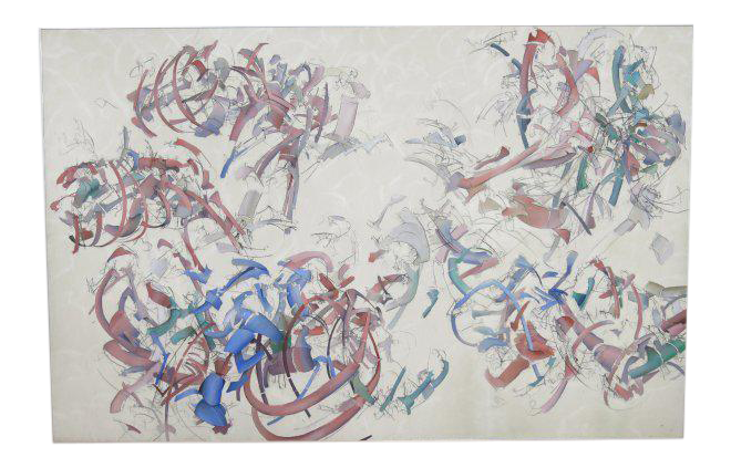 Acrylic drawing charcoal. Peter bardazzi abstract on