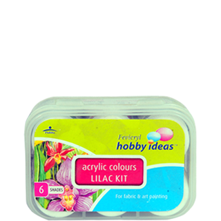 Acrylic drawing colour. Fevicryl colours lilac kit