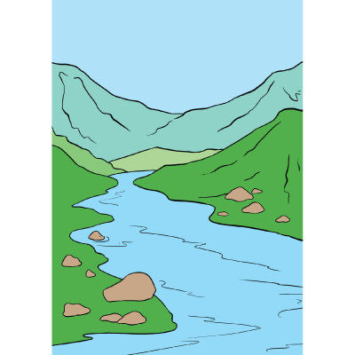 How to draw a. Landforms drawing river clip art freeuse