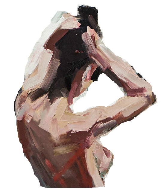 Acrylic drawing figure. Ever pure look at
