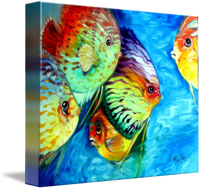 Acrylic drawing fish. Tropical colors by marcia